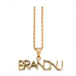 BRANDNU CLOTHING  Logo Chain Necklace