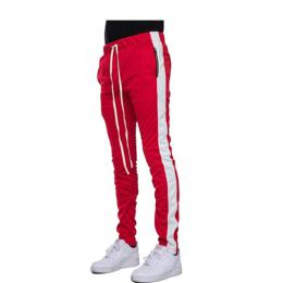 EPTM ZIPPER TRACK PANTS - RED/WHITE