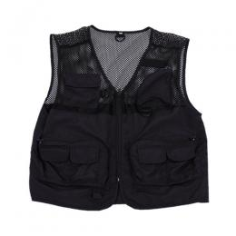PLACES+FACES BLACK MESH VEST