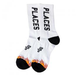PLACES+FACES WHITE FLAME SOCKS