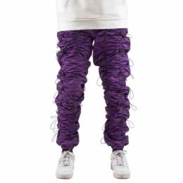 EPTM ACCORDION PANTS - PURPLE/BLACK