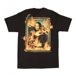 PLEASURES BURN AGAIN T-SHIRT / BK