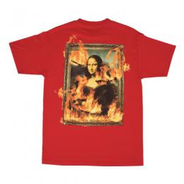 PLEASURES BURN AGAIN T-SHIRT / RED