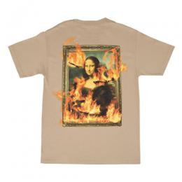 PLEASURES BURN AGAIN T-SHIRT / BEG