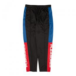 PLEASURES COLORBLOCK TRACK PANTS / BK