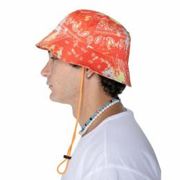 EPTM TIE DYED BANDANA BUCKET HAT - ORANGE