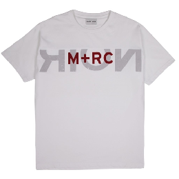 "M+RC NOIR ""BIG LOGO"" WHITE Tee"