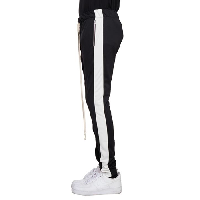 EPTM ZIPPER TRACK PANTS - BLACK/WHITE