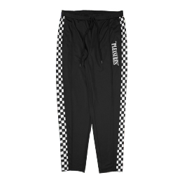 PLEASURES CHECKERED TRACK PANTS / BK