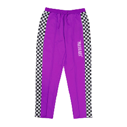 PLEASURES CHECKERED TRACK PANTS / PUR