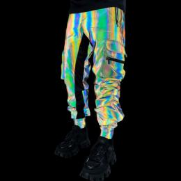 Guapi Clothing GREEN REFLECTIVE CARGO PANTS